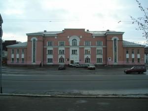 Центральный стадион Профсоюзов - центральный вход на стадион.